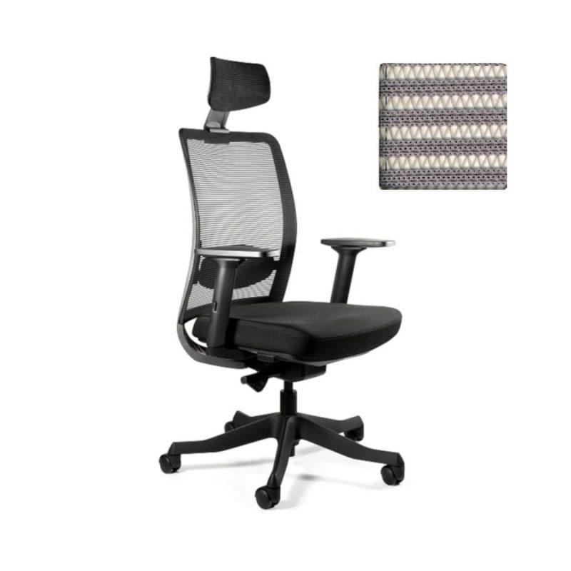 Fotel ergonomiczny Unique ANGGUN Szara Siatka 1199-B-SM02