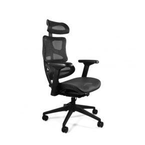 Fotel ergonomiczny Unique Ergotech Czarny Podstawa Czarna kompozytowa CM-B137A-4, nr EAN 5908242400662