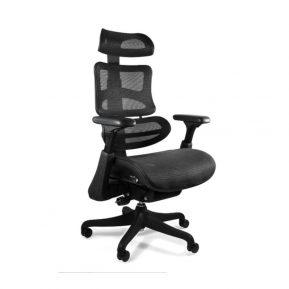 Fotel ergonomiczny Unique Ergothrone Czarny Podstawa kompozyt CM-B37A-3 5908242400686