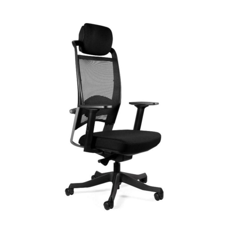Fotel ergonomiczny Unique Fulkrum Siatka czarna P069-SM01