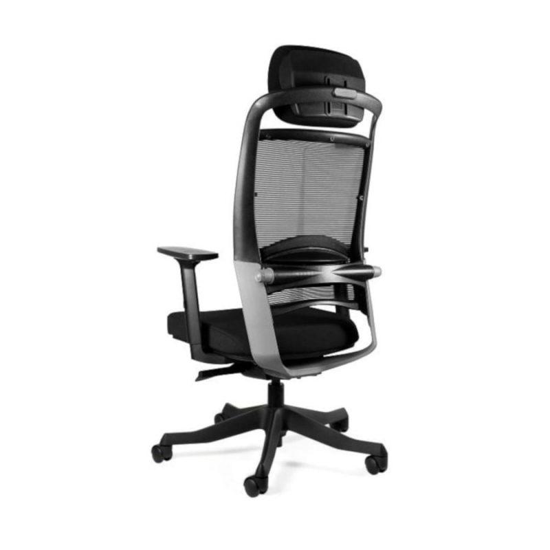 Fotel ergonomiczny Unique Fulkrum Siatka czarna P069-SM01 z tył