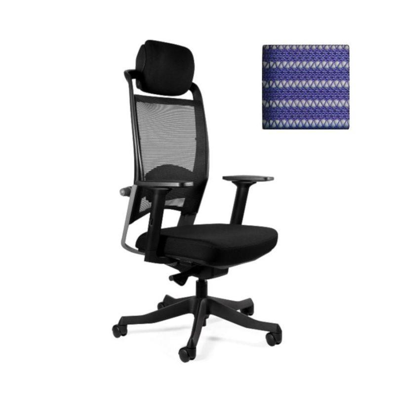 Fotel ergonomiczny Unique Fulkrum Siatka niebieska P069-SM03
