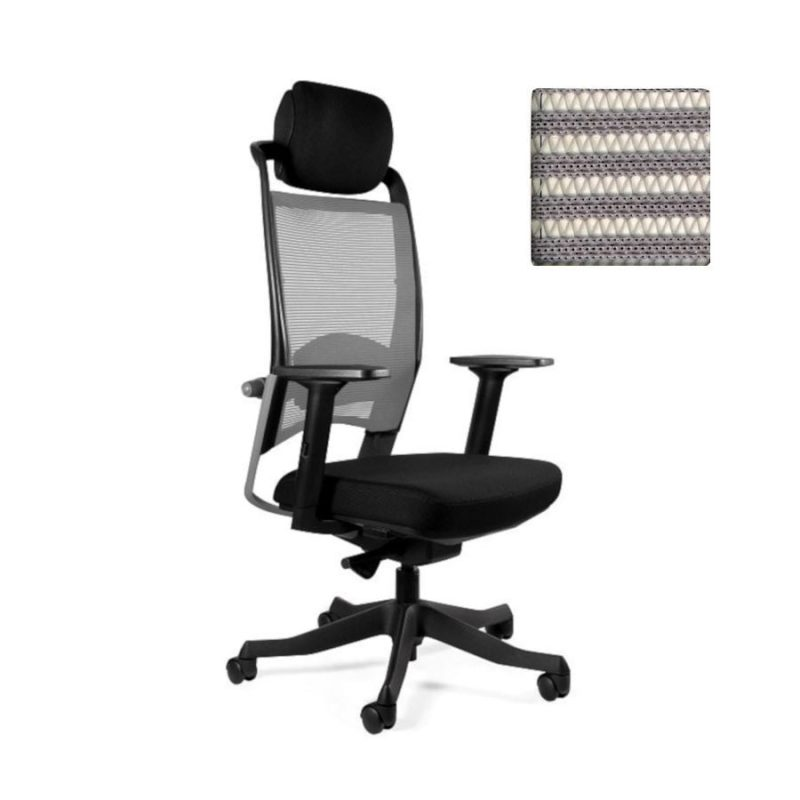 Fotel ergonomiczny Unique Fulkrum Siatka szara P069-SM02