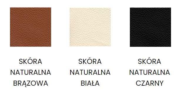 Skóra naturalna - tapicerka zagłówka i siedziska