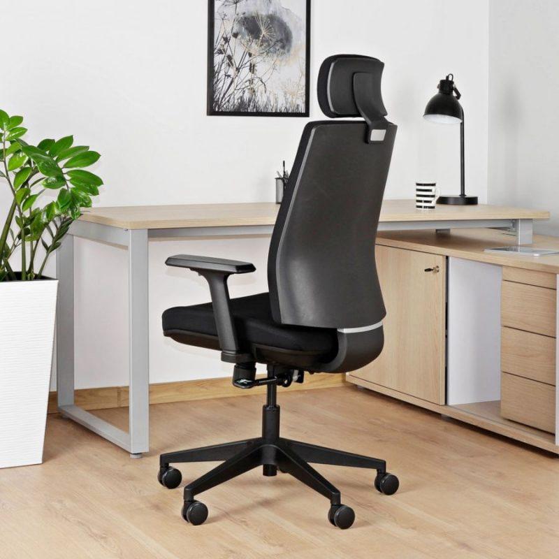 Fotel ergonomiczny Unique Shell KB02-1H Czarny Biurowy
