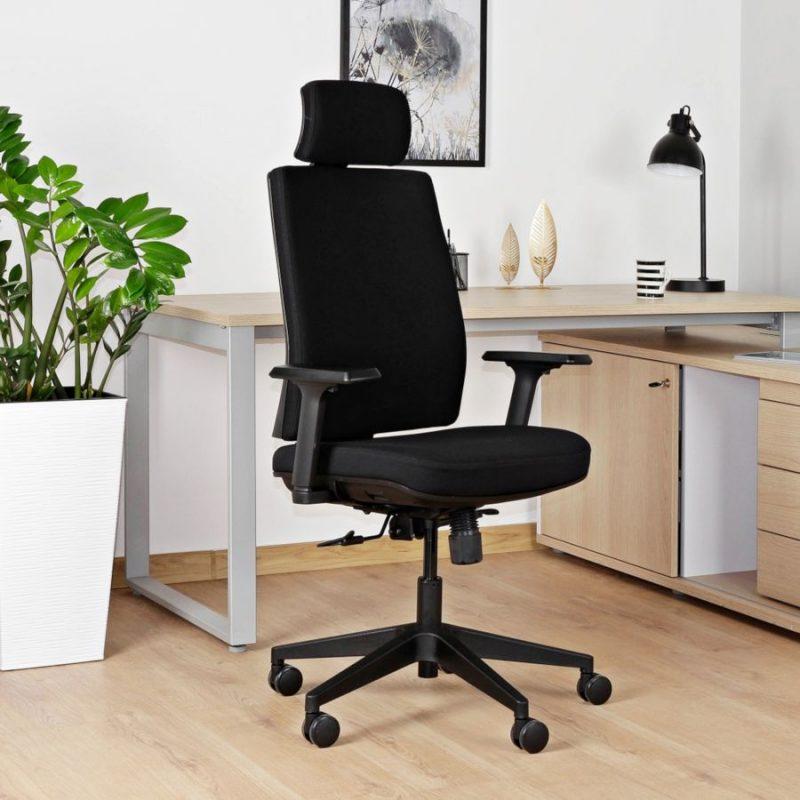 Fotel ergonomiczny Unique Shell KB02-1H Czarny do biura