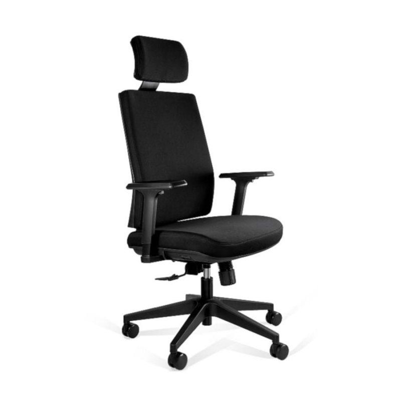 Fotel ergonomiczny Unique Shell KB02-1H Czarny