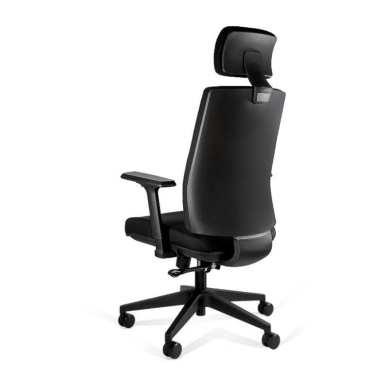 Fotel ergonomiczny Unique Shell KB02-1H Czarny z tył