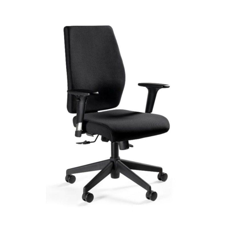 Fotel ergonomiczny Unique Work Czarny z przodu 1009M 5908242405841
