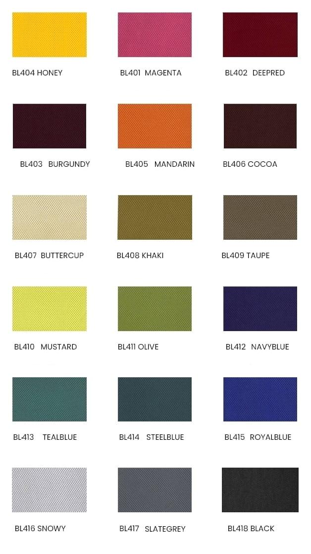 Tkanina BL w fotelach Unique - dostępne kolory, paleta barw