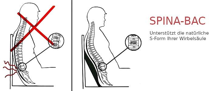 regulowana poduszka Spina-Bac szwedzka pod plecy zastosowanie
