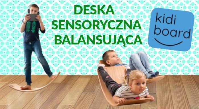 Deska KidiBoard Sensoryczna dla dzieci. Deska balansująca do balansowania dla dzieci.
