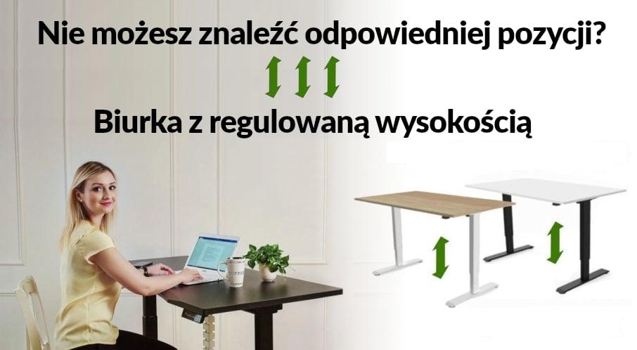 Biurka regulowane elektrycznie Fly-Desk. Biurka z regulowaną wysokością blatu.