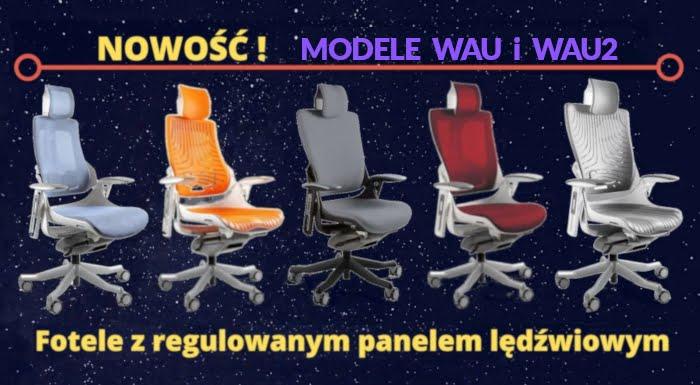 Fotele ergonomiczne Unique Wau / Wau2. Wygodne fotele biurowe do pracy przy komputerze