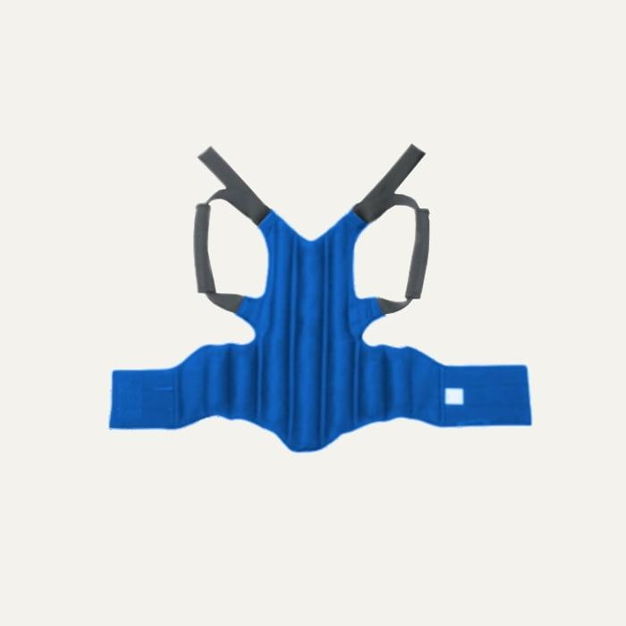 Pas korygujący wysoki Kulik System krzyżowo-lędźwiowy niebieski wewnątrz