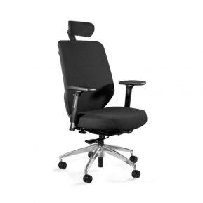 Fotel ergonomiczny Unique HERO Czarny Stelaż Tkanina Czarna ZM-6661-B-SM-2327 z przodu