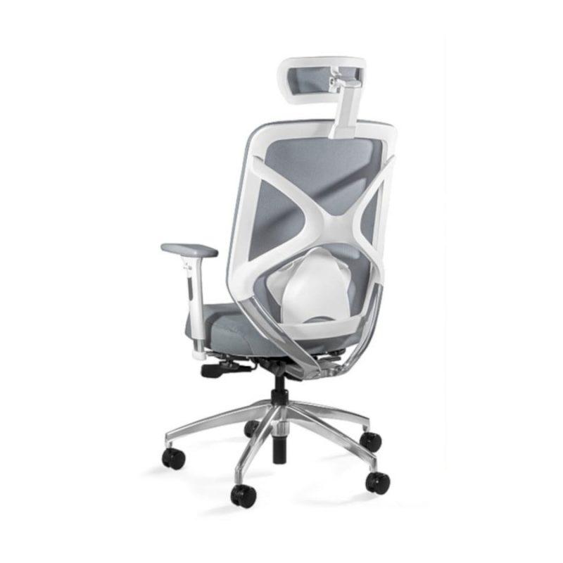 Fotel ergonomiczny Unique HERO Czarny Stelaż Tkanina SM Grey ZM-6661-W-SM-2315 z tył