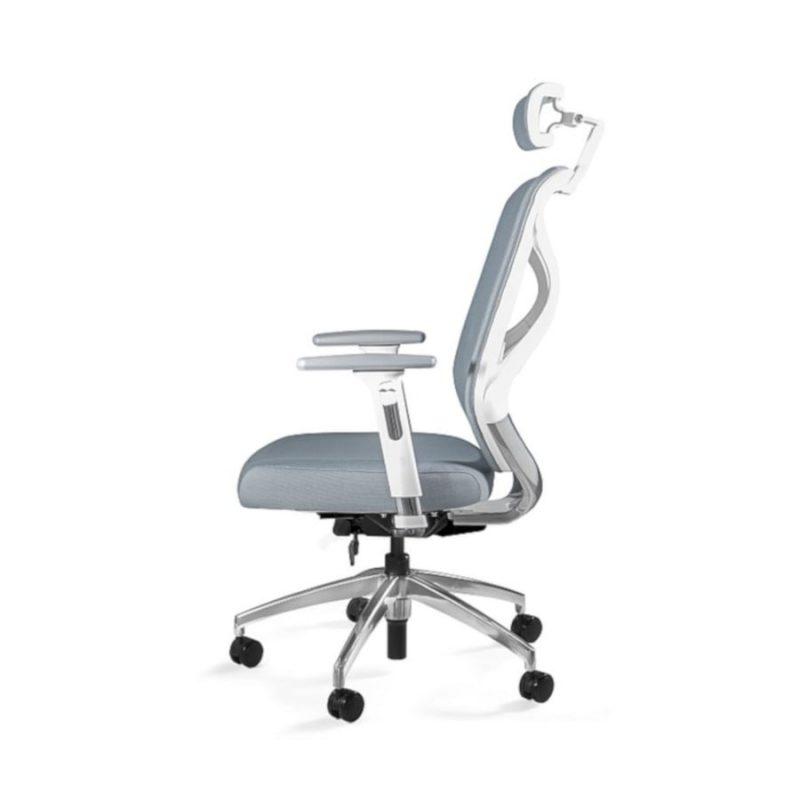 Fotel ergonomiczny Unique HERO Czarny Stelaż Tkanina SM Grey ZM-6661-W-SM-2315 z boku