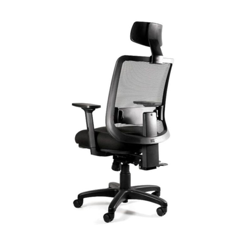 Fotel ergonomiczny Unique SAGA PLUS czarna siatka 1219-B-SM01 z tył