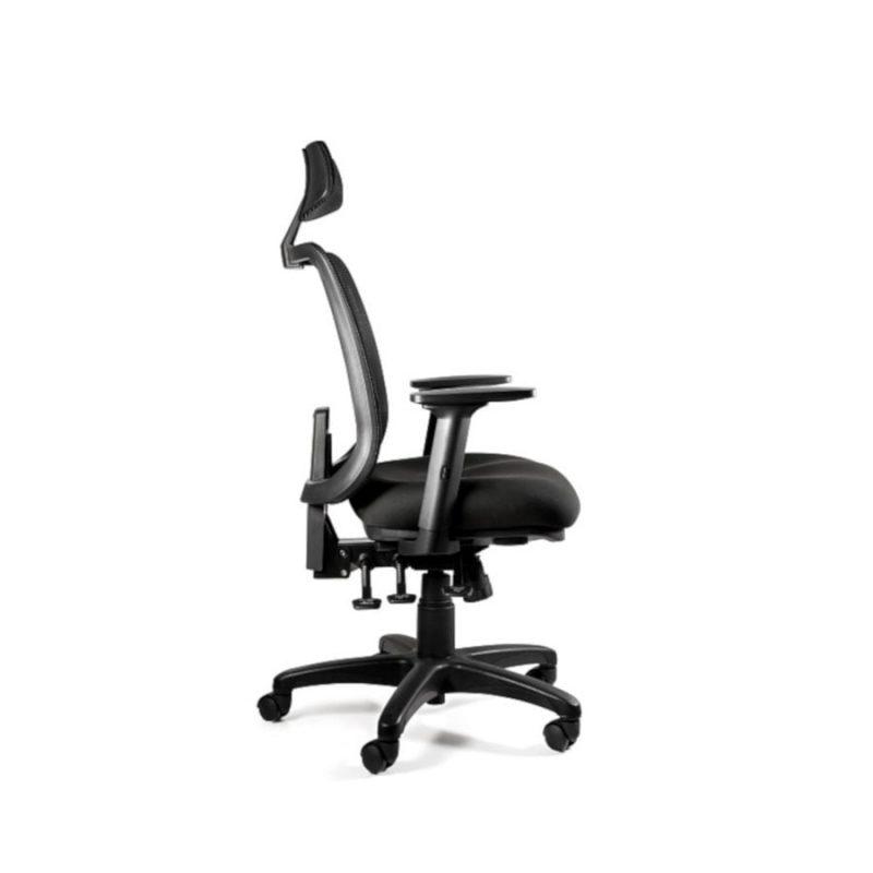 Fotel ergonomiczny Unique SAGA PLUS czarna siatka 1219-B-SM01 z boku