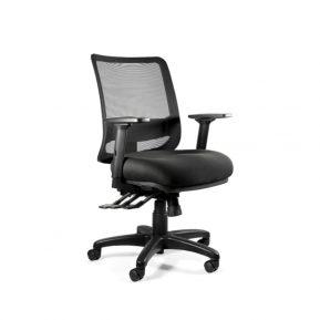 Fotel ergonomiczny Unique SAGA PLUS M czarna siatka 1218-B-SM01 z przodu
