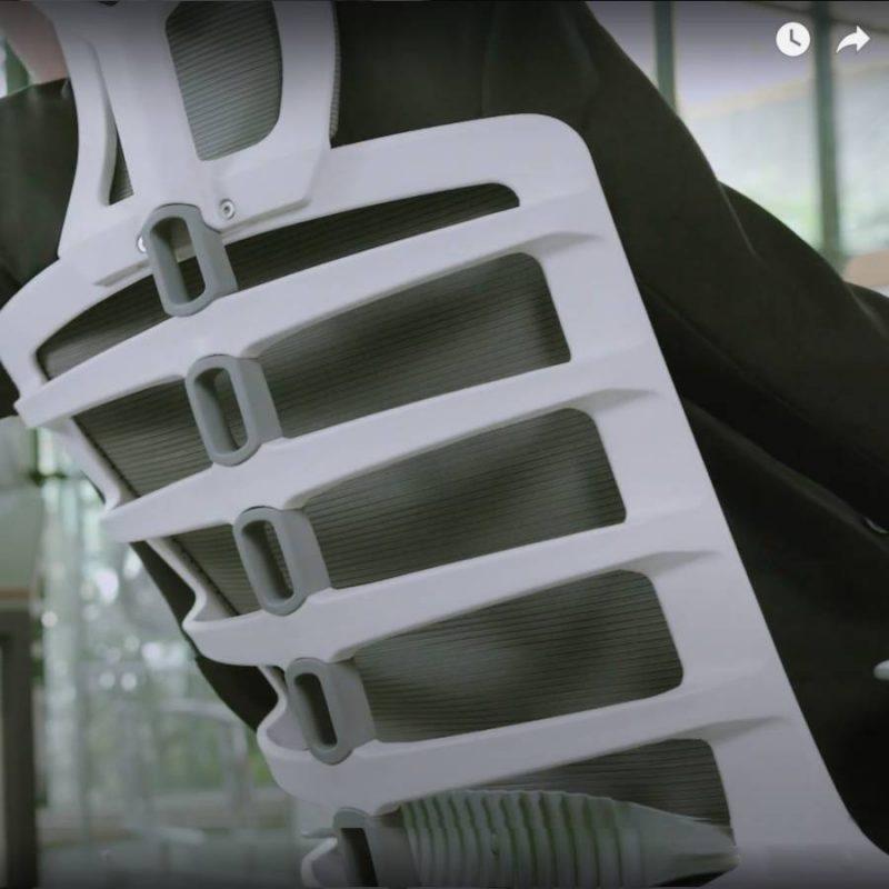 Praca oparcia w fotelu ergonomiczny Unique Spinelly / Spinelly M. Zdjęcie 2