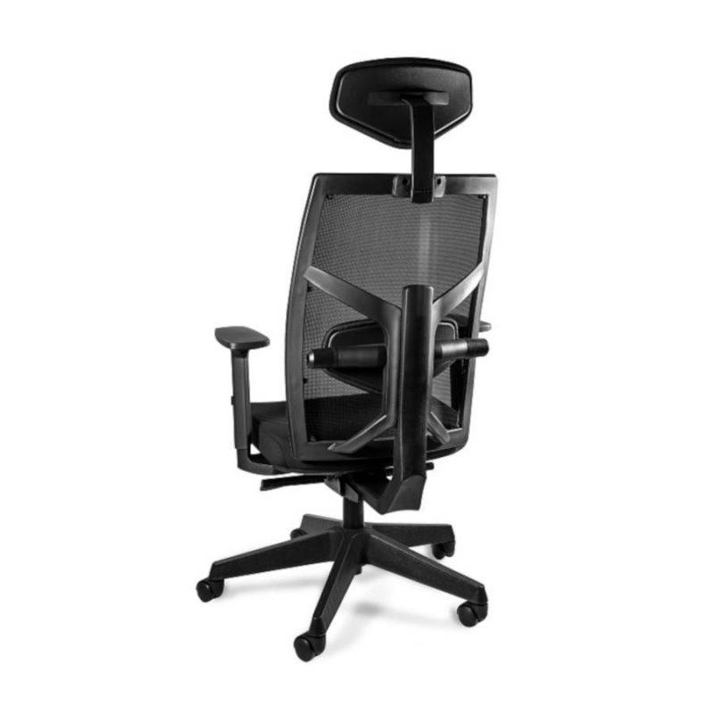 Fotel ergonomiczny Unique TUNE 139Y Czarny Stelaż Tkanina SM z tył