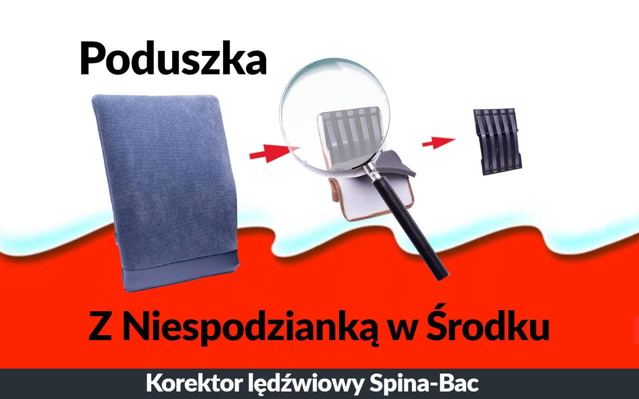 Poduszka lędźwiowa Spina-Bac. Szwedzki korektor postawy siedzącej