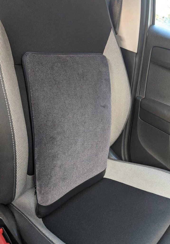 Spina-Bac korektor postawy siedzącej do samochodu dla kierowcy. Szwedzka poduszka korygująca