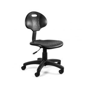 Krzesło medyczne Unique Gorion Czarne 5001 z przodu