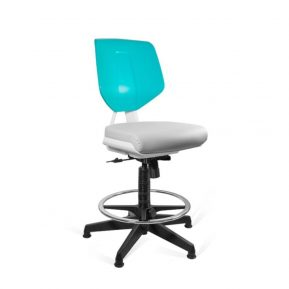 Krzesło medyczne Unique Kaden Grey Green 1167N2D2 z przodu