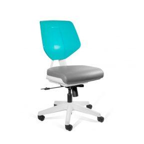 Krzesło medyczne Unique Kaden Low Grey Green 1167N3 z przodu