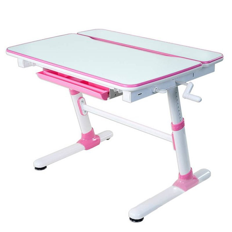 Biurko regulowane dla dziecka Fun Desk Carezza Pink 1