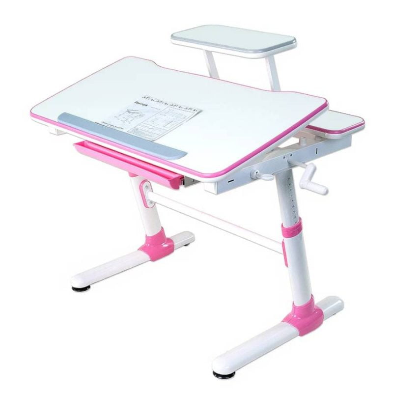 Biurko regulowane dla dziecka Fun Desk Carezza Pink 6