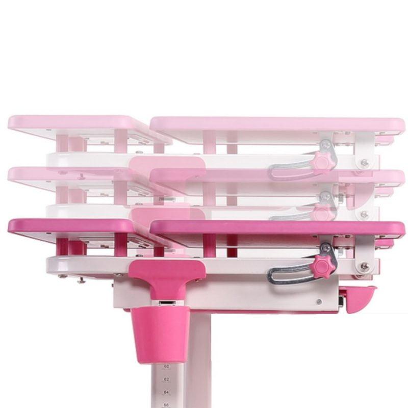 Biurko regulowane dla dziecka Fun Desk Lavoro L Pink podnoszony blat