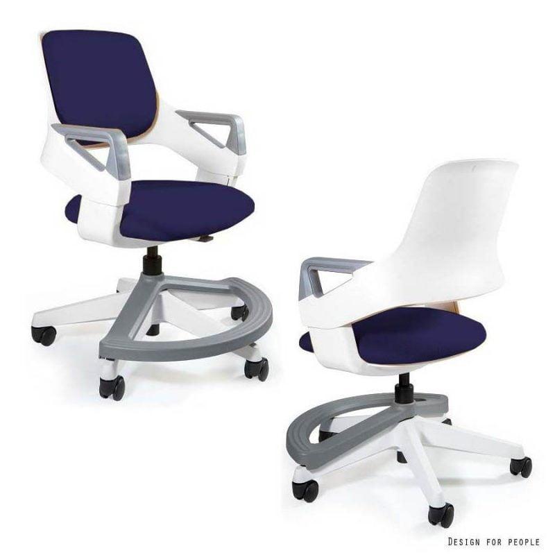 Ergonomiczne krzesło do biurka dla dziecka Unique Rookee BL412 NAVYBLU
