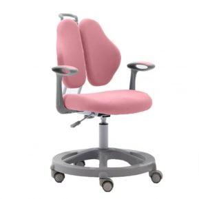 Krzesło ergonomiczne dla dziecka Vetta II Pink z przodu