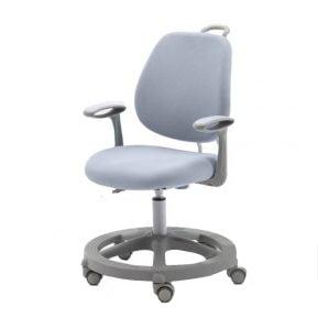 Krzesło ergonomiczne dla dziecka Pratico Grey z boku