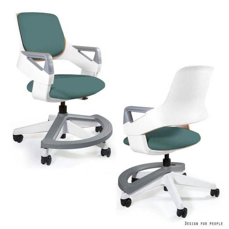Pierwsze krzeslo do biurka dla dziecka Unique Rookee BL413 TEALBLUE