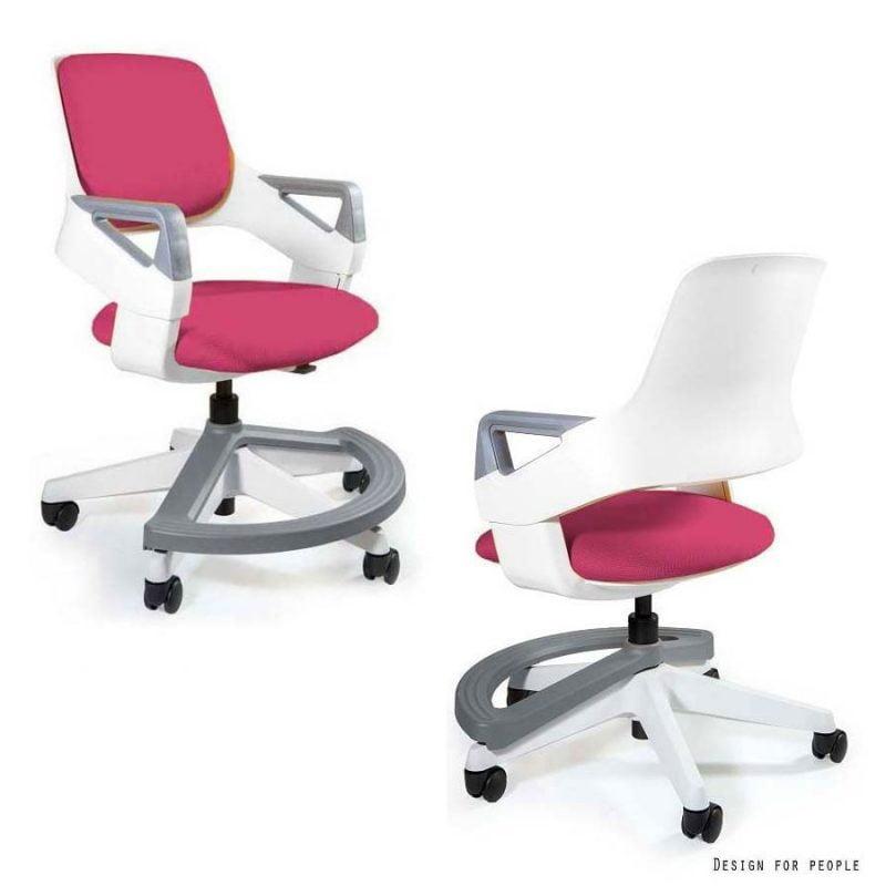 zdrowe krzeslo Unique Rookee BL401 MAGENTA do biurka dla dziecka