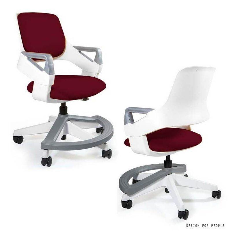 Zdrowe krzesło do biurka dla dziecka Unique Rookee BL402 DEEPRED