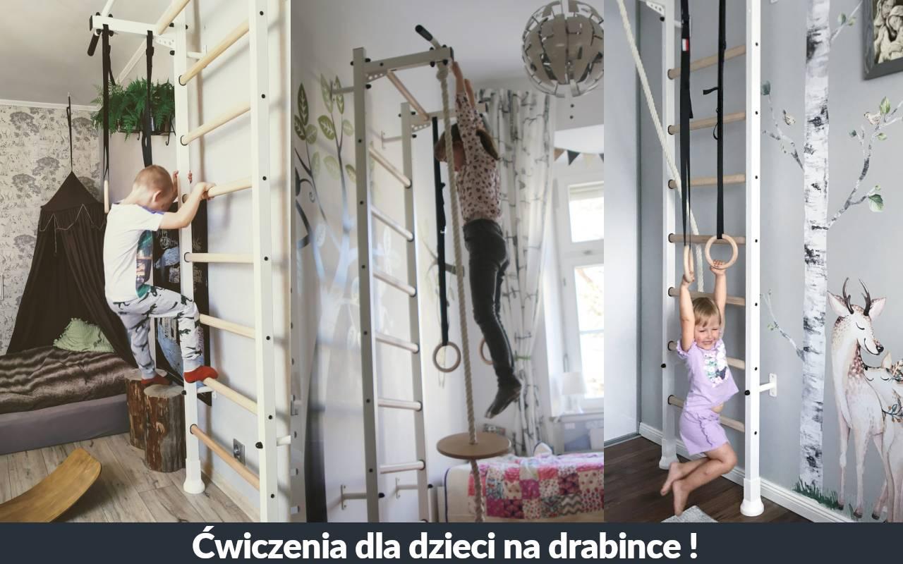 Ćwiczenia na drabince gimnastycznej dla dziecka. Zestaw 3 ćwiczeń